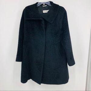 MaxMara  Black Alpaca Wool blend long line coat